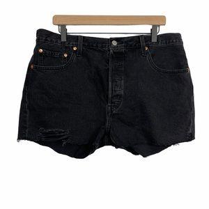 Levi's 501 High Waisted Black Shorts SZ 34 NEW